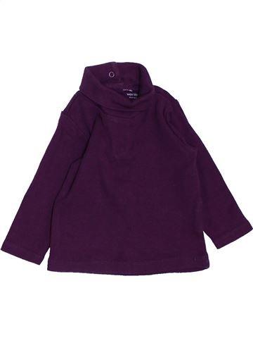 Camiseta de cuello alto niña VERTBAUDET violeta 6 meses invierno #1457917_1