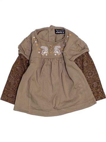 T-shirt manches longues fille TOUT COMPTE FAIT marron 6 mois hiver #1457941_1