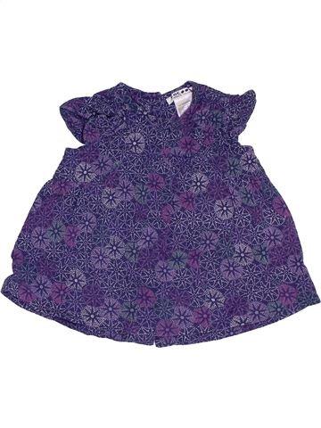 Blusa de manga corta niña LA REDOUTE CRÉATION violeta 6 meses verano #1457945_1