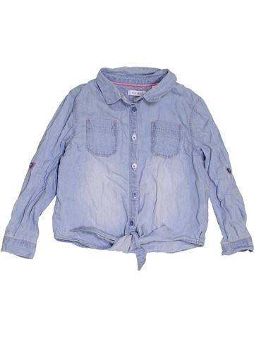 Blusa de manga larga niña OKAIDI azul 4 años invierno #1458235_1