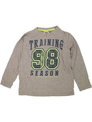 T-shirt manches longues garçon YIGGA gris 10 ans hiver #1458270_1