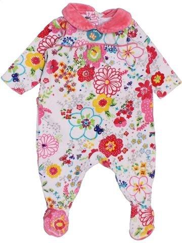 Pijama de 1 pieza niña CATIMINI violeta 1 mes invierno #1458344_1