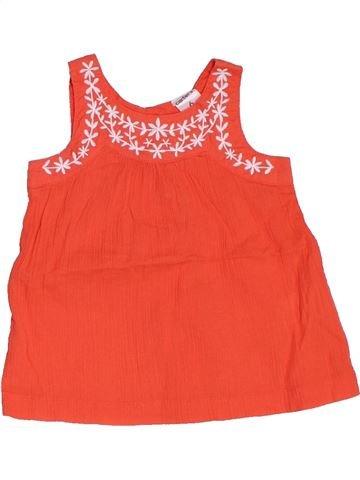 Blusa de manga corta niña CARTER'S naranja 6 meses verano #1458429_1