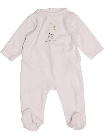 Pijama de 1 pieza unisex BOUT'CHOU blanco 6 meses invierno #1458506_1