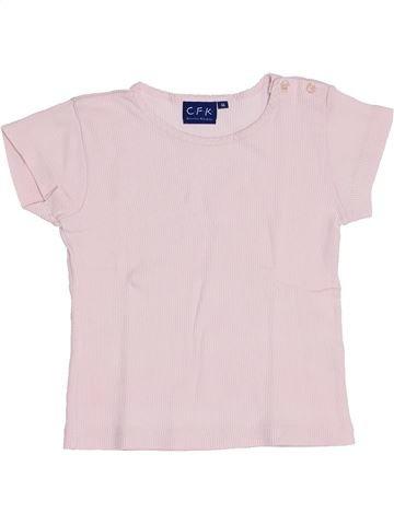 T-shirt manches courtes fille CFK rose 4 ans été #1458517_1