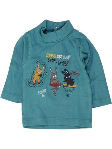 Camiseta de cuello alto niño TOUT COMPTE FAIT azul 3 meses invierno #1458623_1
