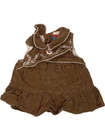 Robe fille TOPOLINO marron 3 mois hiver #1458861_1