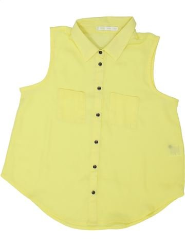 Blusa de manga corta niña GEMO amarillo 14 años verano #1458918_1