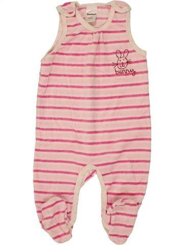 Pijama de 1 pieza niña IMPIDIMPI rosa 6 meses invierno #1459007_1