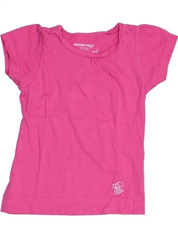 Camiseta de manga corta niña ORCHESTRA rosa 3 años verano #1459102_1