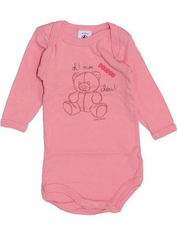 T-shirt manches longues fille PETIT BATEAU rose 3 mois hiver #1459165_1