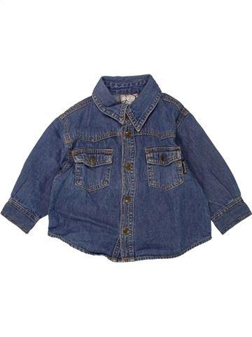 Camisa de manga larga niño H&M azul 12 meses invierno #1459344_1