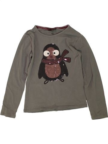 Camiseta de manga larga niña JBC marrón 6 años invierno #1459812_1