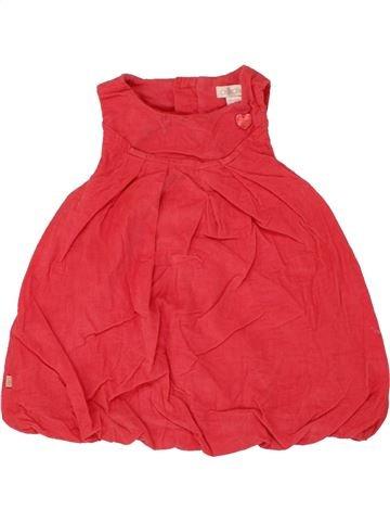 Vestido niña OKAIDI rojo 3 meses invierno #1459941_1