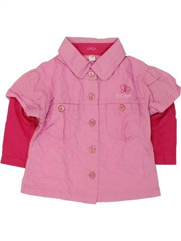Blusa de manga larga niña SMILE rosa 6 meses invierno #1459942_1