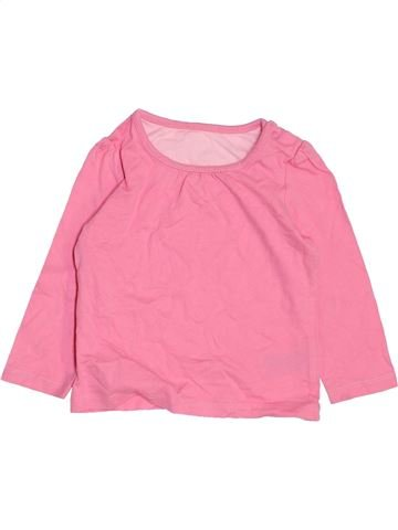 T-shirt manches longues fille MOTHERCARE rose 9 mois hiver #1460173_1