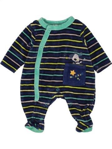 Pijama de 1 pieza niño ORCHESTRA azul oscuro 0 meses invierno #1460282_1