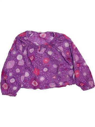 Blusa de manga larga niña VERTBAUDET violeta 2 años invierno #1460283_1