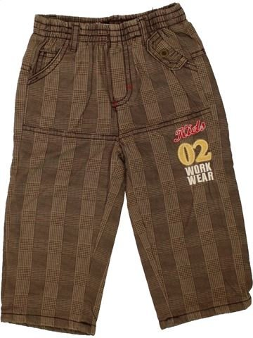 Pantalón niño TEDDY LU marrón 12 meses invierno #1460297_1