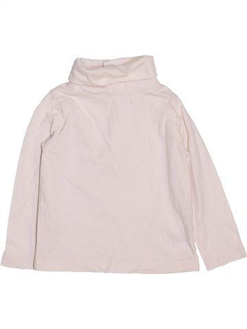 T-shirt col roulé garçon JOHN LEWIS blanc 6 mois hiver #1460744_1