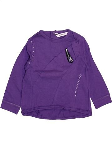 Camiseta de manga larga niño 3 POMMES violeta 18 meses invierno #1461188_1