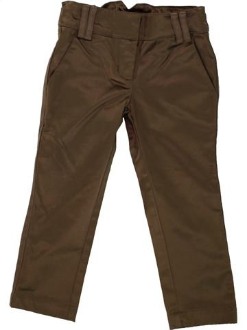 Pantalon fille LILI GAUFRETTE marron 2 ans hiver #1461343_1