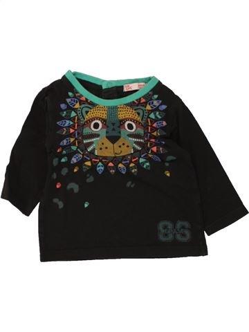 T-shirt manches longues garçon DPAM noir 6 mois hiver #1461356_1