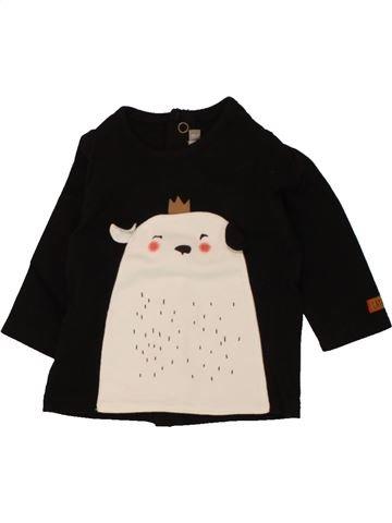 T-shirt manches longues garçon CATIMINI violet 3 mois hiver #1461359_1