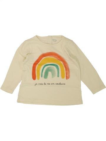 Camiseta de manga larga niña BOUT'CHOU beige 12 meses invierno #1461490_1