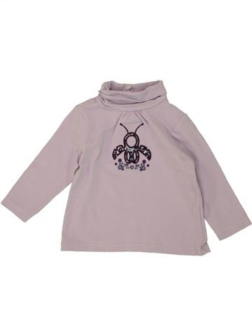 T-shirt manches longues fille OBAIBI rose 6 mois hiver #1461662_1