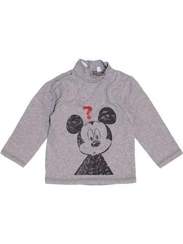 T-shirt manches longues garçon DISNEY gris 12 mois hiver #1461748_1
