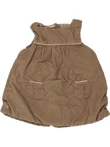 Robe fille OKAIDI marron 6 mois hiver #1462117_1