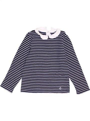 T-shirt manches longues fille PETIT BATEAU gris 5 ans hiver #1462130_1