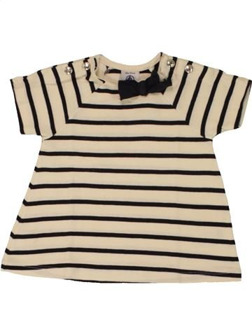 T-shirt manches courtes fille PETIT BATEAU blanc 18 mois été #1462293_1