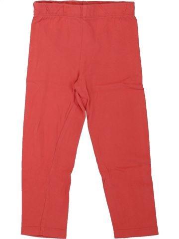Legging fille ORCHESTRA rouge 3 ans hiver #1462600_1
