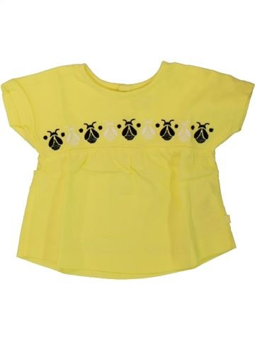 T-shirt manches courtes fille OKAIDI jaune 3 mois été #1462652_1