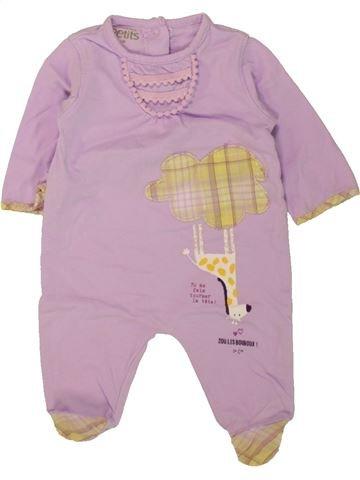 Pyjama 1 pièce fille LA COMPAGNIE DES PETITS gris 1 mois été #1462667_1