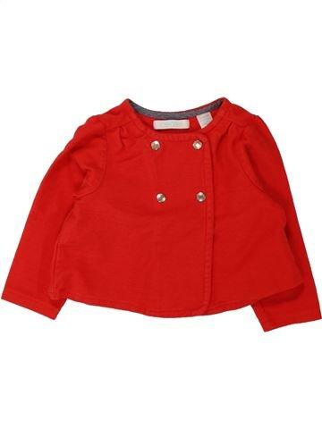 Sweat fille OKAIDI rouge 12 mois hiver #1462723_1
