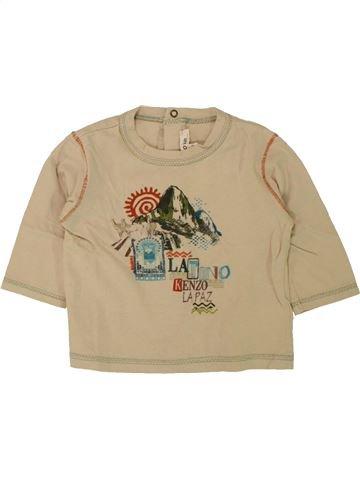Camiseta de manga larga niño KENZO beige 6 meses invierno #1462782_1