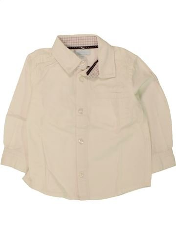 Chemise manches longues garçon OKAIDI beige 12 mois hiver #1462893_1