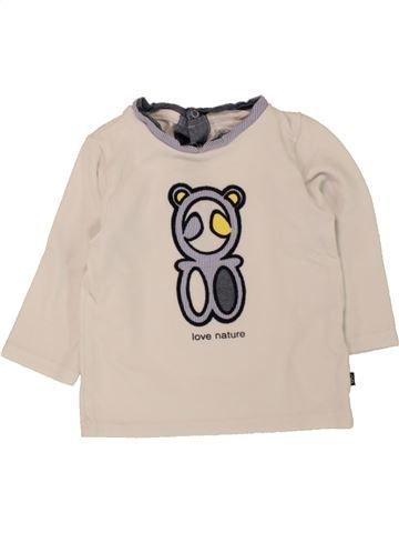T-shirt manches longues garçon OKAIDI beige 9 mois hiver #1463264_1