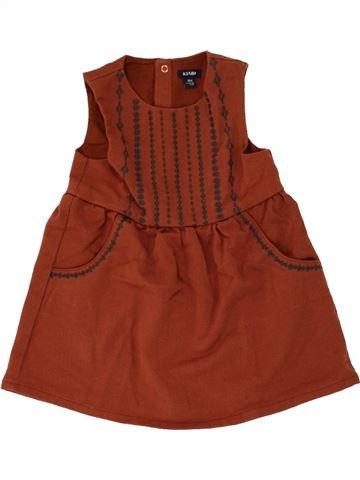 Robe fille KIABI marron 18 mois hiver #1463605_1
