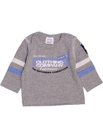 T-shirt manches longues garçon DIRKJE gris 1 mois hiver #1463655_1