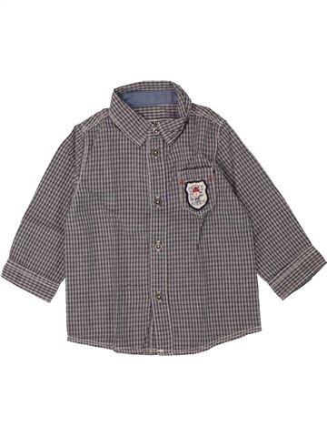 Chemise manches longues garçon CREEKS gris 6 mois hiver #1463716_1