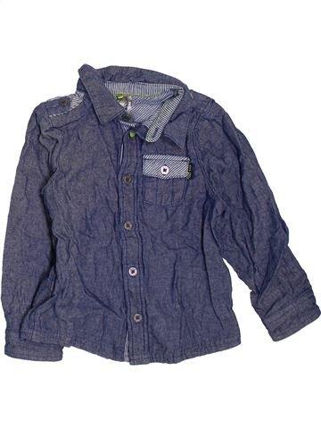 Chemise manches longues garçon ORCHESTRA violet 3 ans hiver #1464079_1