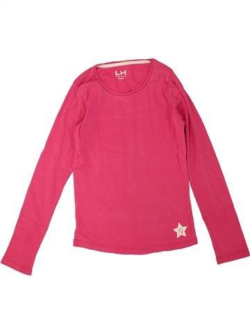 T-shirt manches longues fille LH BY LA HALLE rose 10 ans hiver #1464314_1
