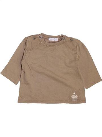 T-shirt manches longues garçon MEXX beige 6 mois hiver #1464407_1