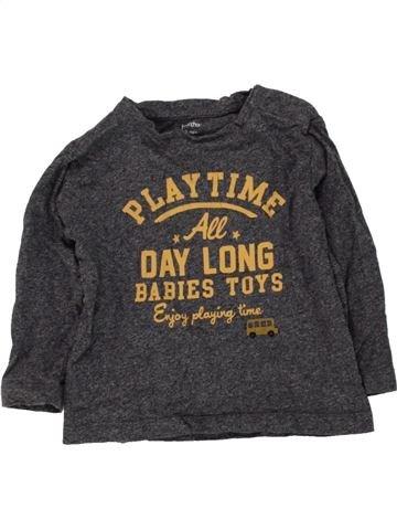 T-shirt manches longues garçon BOUT'CHOU gris 12 mois hiver #1464621_1