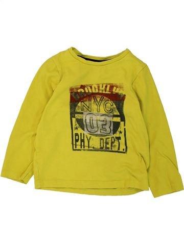 T-shirt manches longues garçon ORCHESTRA vert 4 ans hiver #1464691_1
