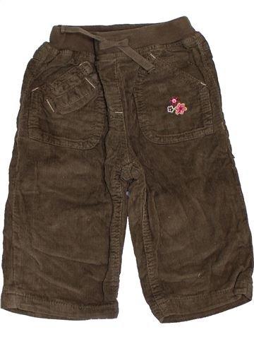 Pantalon fille TOPOLINO marron 12 mois hiver #1464805_1